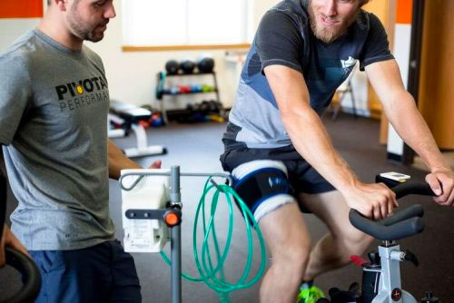 Blood Flow Restriction Training on an exercise bike